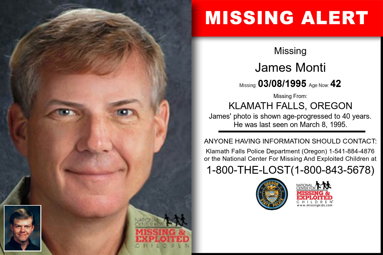 James_Monti missing in Oregon