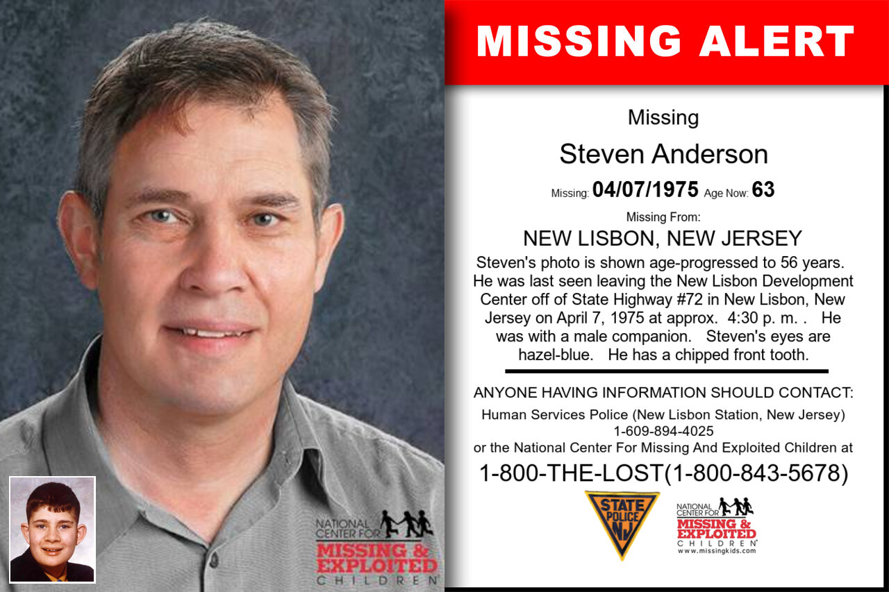 Steven_Anderson missing in New_Jersey