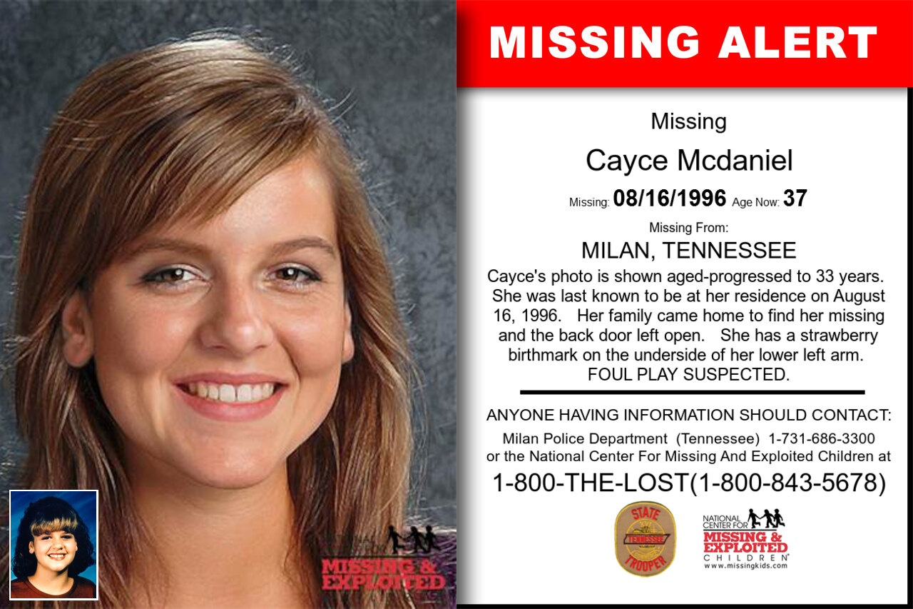Cayce_Mcdaniel missing in Tennessee