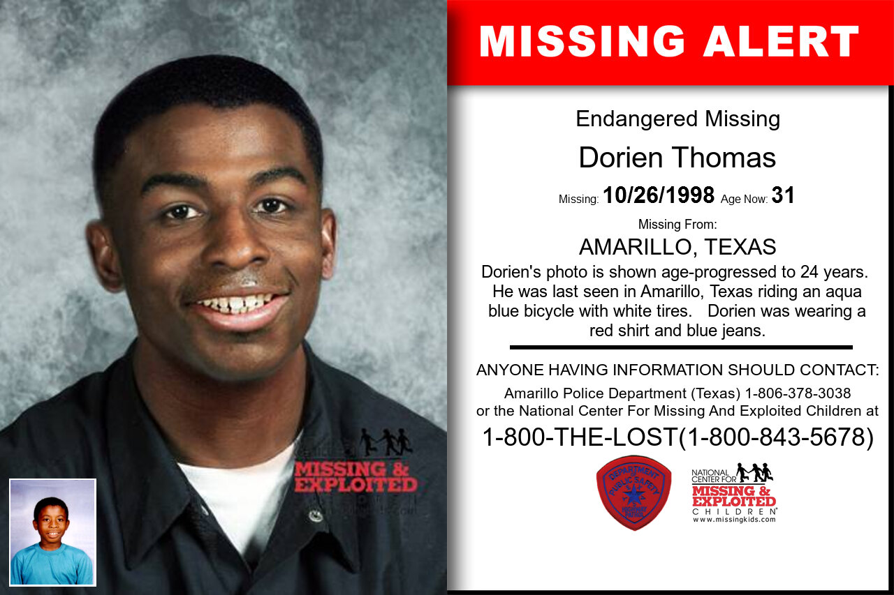 Dorien_Thomas missing in Texas