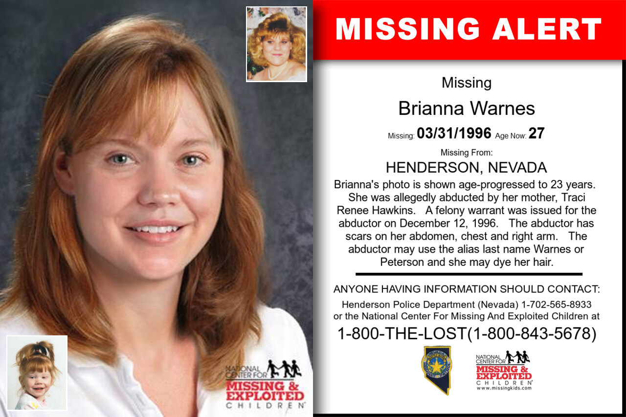 Brianna_Warnes missing in Nevada