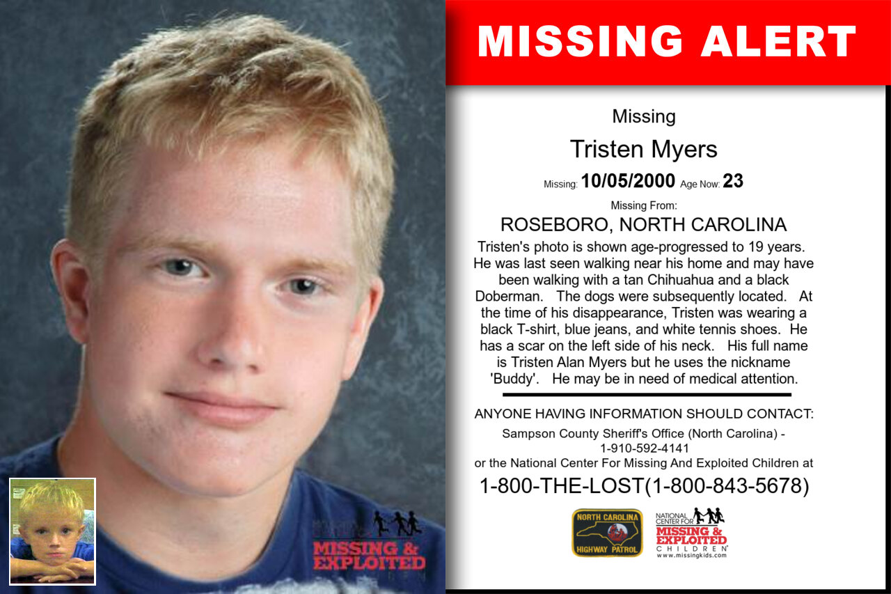Tristen_Myers missing in North_Carolina