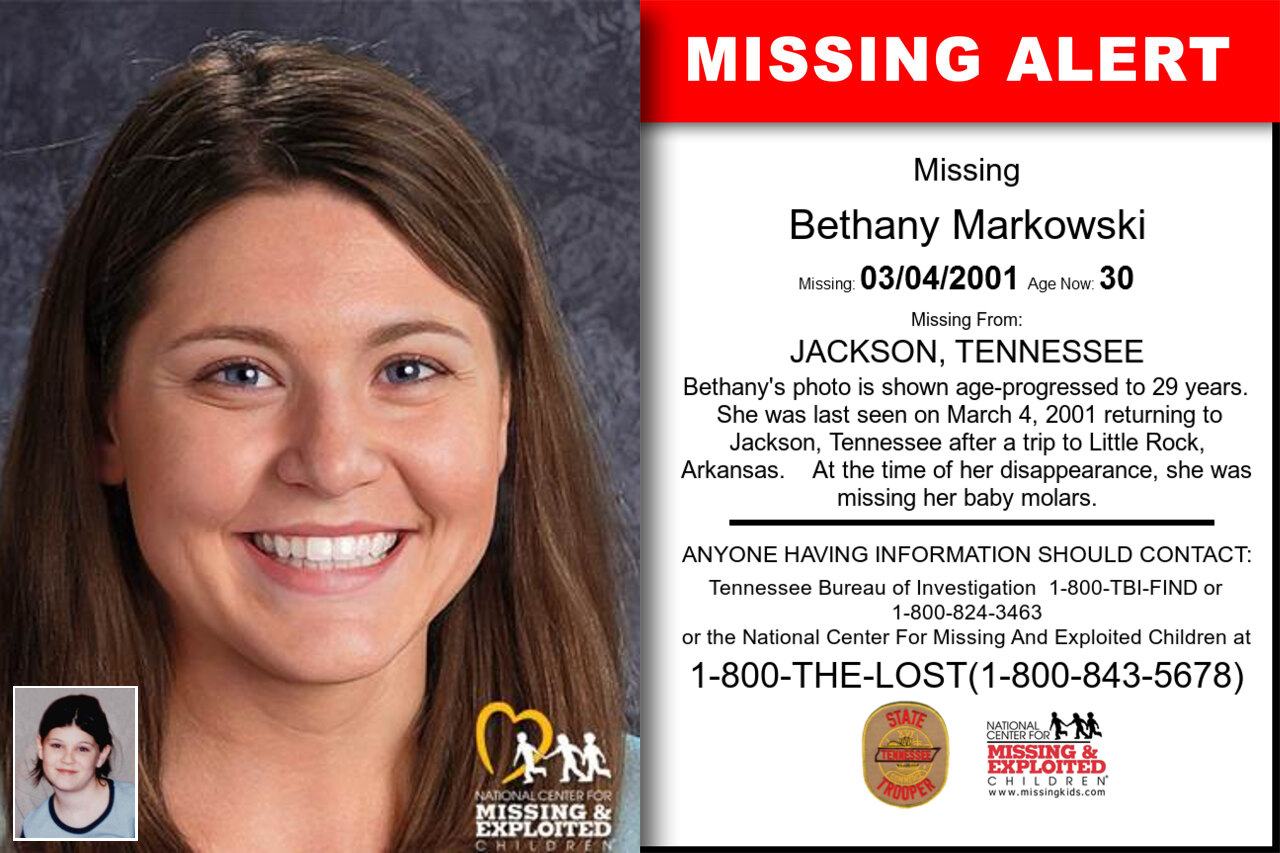 Bethany_Markowski missing in Tennessee