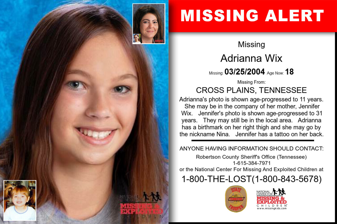 Adrianna_Wix missing in Tennessee
