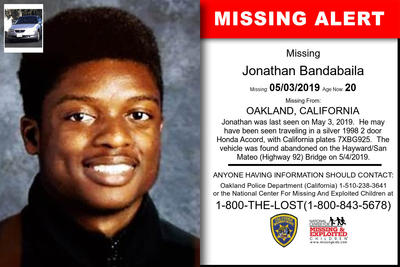 California - JONATHAN BANDABAILA - Missing Alert