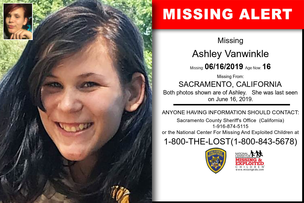 California - ASHLEY VANWINKLE - Missing Alert